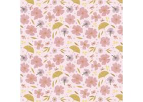 有机平面设计抽象花卉图案_13661406