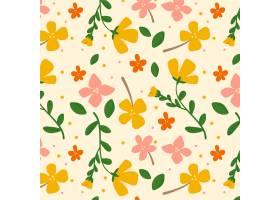 有机平面设计抽象花卉图案_13661407