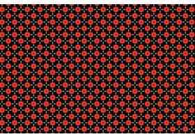 印地安红色花卉无缝的样式背景_15226728