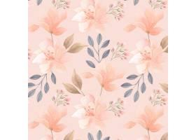 在桃子口气的手画水彩花卉样式_15184276