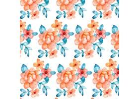 在桃子口气的手画水彩花卉样式_14455402