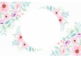 与水彩的桃红色花卉框架背景_15967181