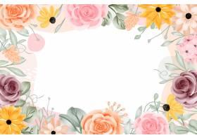 与白色空间的花卉框架背景摘要_17901831