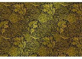 豪华矢量金色花卉壁纸从威廉莫里斯从艺术品
