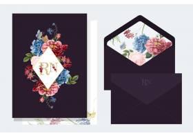 花卉邀请卡片样机图