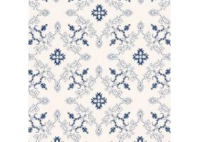 蓝色和白色传染媒介葡萄酒花卉背景图象