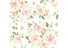 美丽的花卉无缝模式