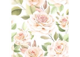 美丽的花卉无缝模式_16701008