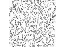 背景设计用手拉的植物例证