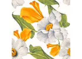 花卉无缝的样式背景例证从公共领域的艺术