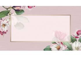粉红色的盛开花卉框架
