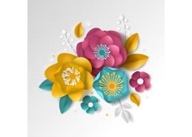现实纸花卉