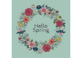 春天花卉框架