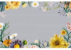 春天花卉葡萄酒框架传染媒介