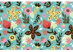 有机平面抽象花卉图案