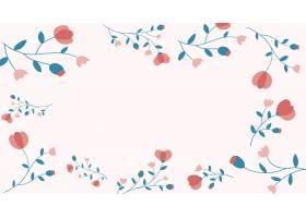 桃红色花卉框架背景传染媒介女性样式