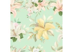 与柔和的颜色的花卉无缝的样式_10543787