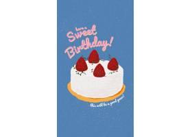 在线生日与逗人喜爱的蛋糕和祝愿文本的问候_16396059