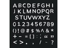 字母表数字符号grunge刷子行程排版