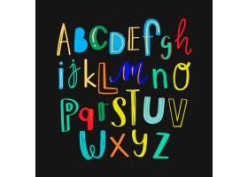 字母表涂鸦印刷术多彩套