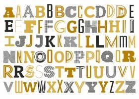字母表用不同的字母