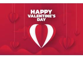 情人节销售背景与气球心脏矢量插图壁纸飞行