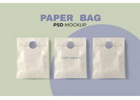 烘焙纸袋大模型PSD在最小的风格_17860887