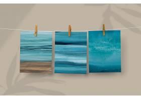 海洋照片psd大模型挂木夹_17609649
