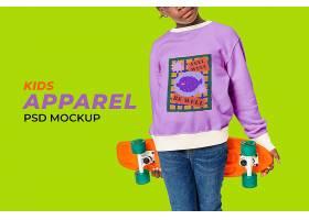 孩子们卡通毛衣大模型psd可爱的时尚风格_17861006