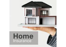 家庭保险模板psd为社交媒体与可编辑文本_17860915